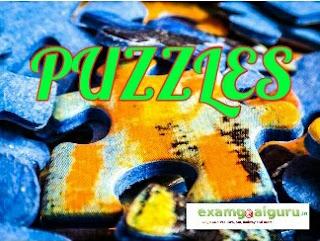 IBPS clerk pre puzzle