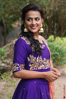 Actress Shraddha Srinath in Purple Chania Choli Cute Pics ~  Exclusive 48.jpg
