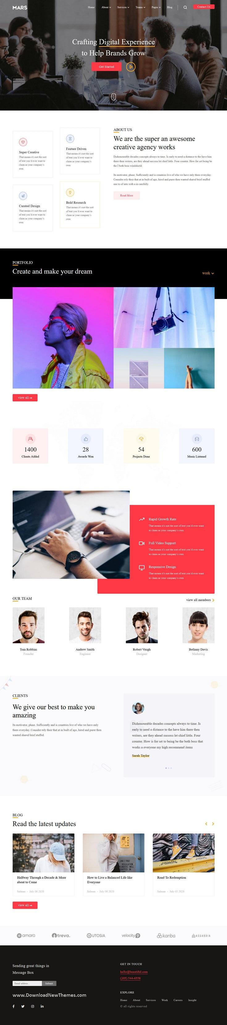 Multipurpose Portfolio Blogger Theme