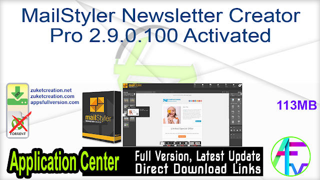 MailStyler Newsletter Creator Pro 2.9.0.100 Activated