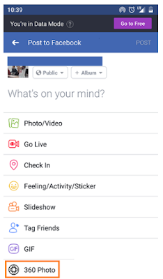 Cara Posting Foto 360 Derajat di Facebook Android