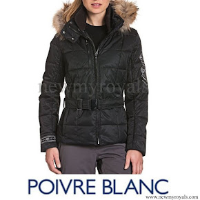Queen Mathilde wore POIVRE BLANC Puffer jacket