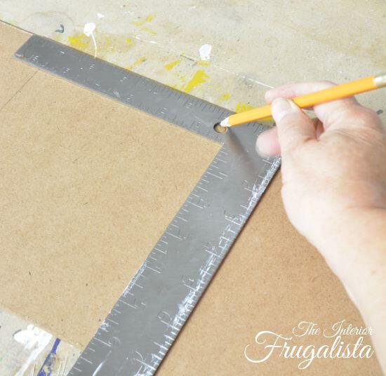 DIY Jumbo Scrabble Tile Fall Banner Marking Right Hole