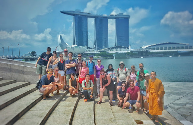 Our Singapore walking tour with Indie Singapore finished at the marina