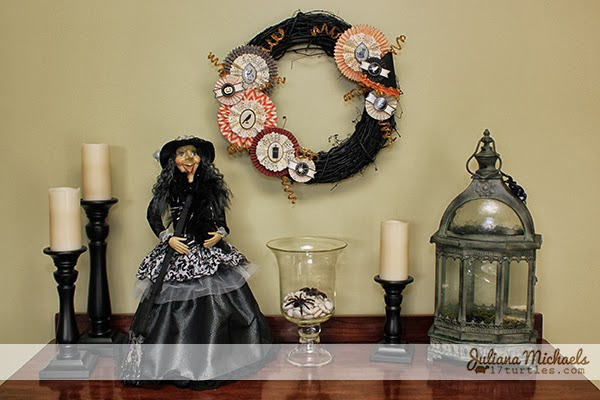 Halloween Rosette Wreath by Juliana Michaels