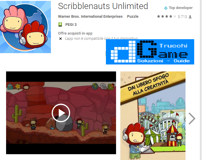 Soluzioni Scribblenauts Unlimited livello 11 12 13 14 15 16 17 18 19 20 | Trucchi e  Walkthrough level