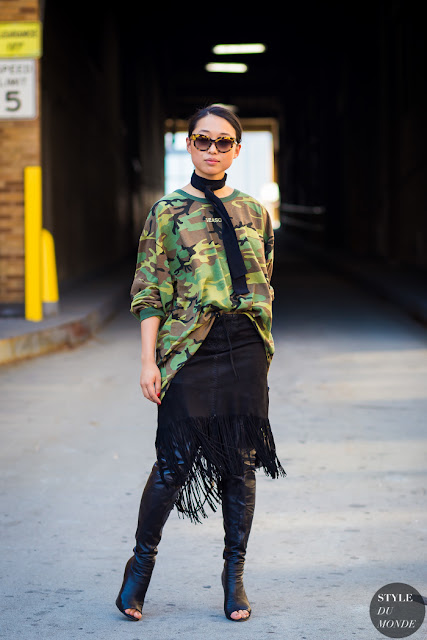 Camouflage print street style