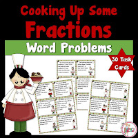 Cooking Up Some Fractions Word Problem Task Cards