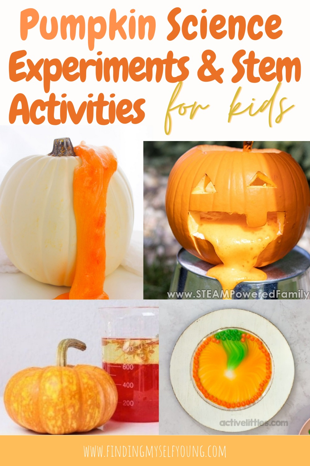 pumpkin science experiments and stem activities for kids