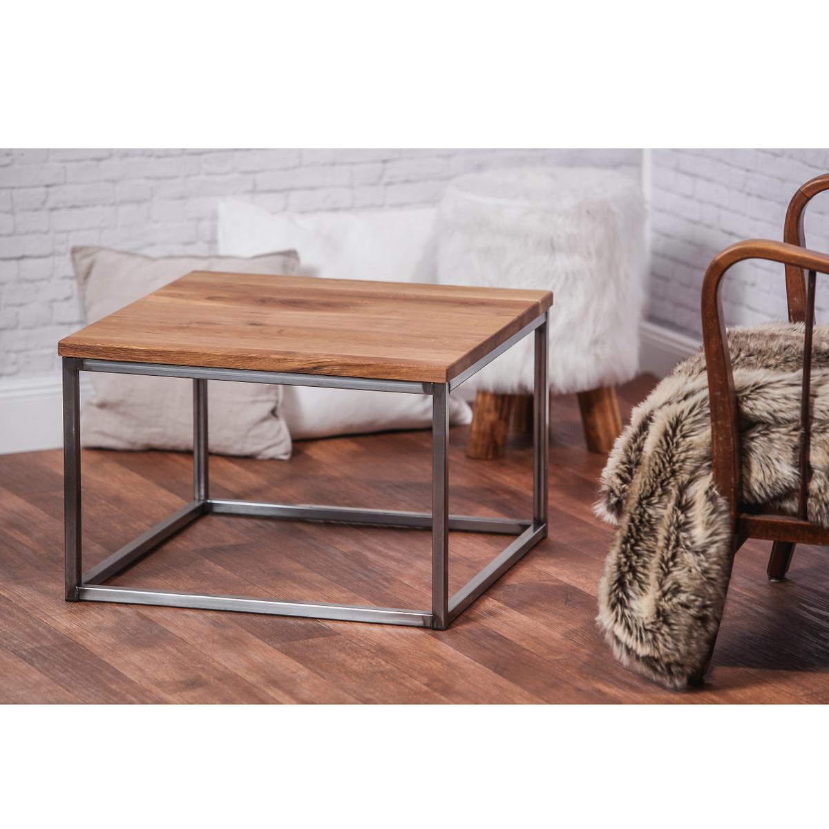 industriedesign loft couchtisch beistelltisch vintage sofatisch massiv holz. Black Bedroom Furniture Sets. Home Design Ideas