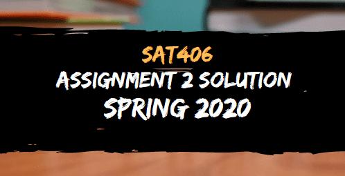 STA406 ASSIGNMENT NO.2 SOLUTION SPRING 2020