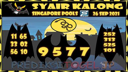 Syair Kalong Togel Singapura Minggu 26-09-2021