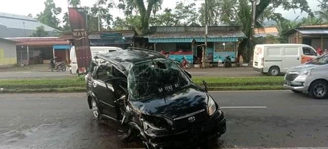 Kecelakaan Tunggal Terjadi di Jalan Bandara Internasional Minangkabau