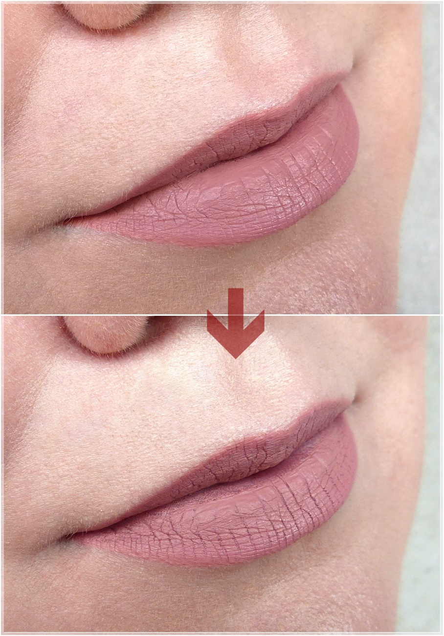 ABH liquid lipstick Pure Hollywood Swatch
