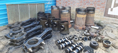 Piston, liner, head, con rods, rings, valves, MAK engine,parts, pump, manifolds, bearing, lube oil