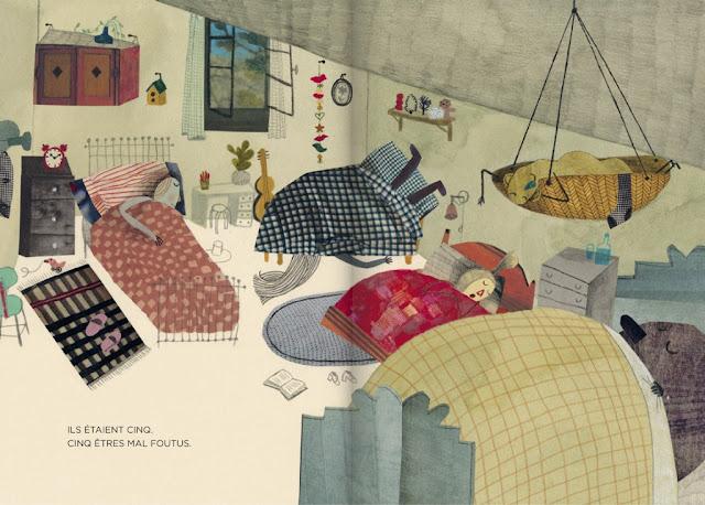 Les cinq malfoutus - Beatrice Alemagna - Hélium - 2014