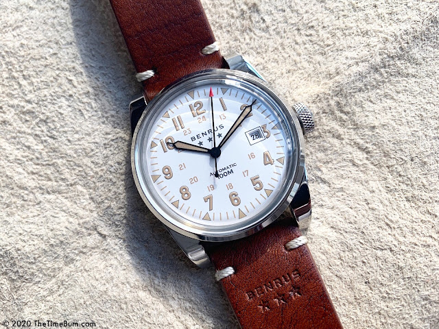 Benrus Heritage Field Watch white