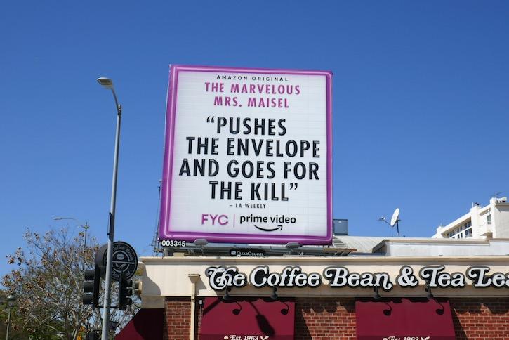 Mrs Maisel season 3 FYC billboard