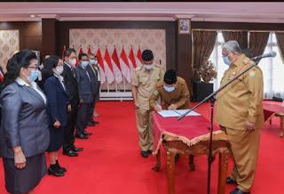 Gubernur Sultra Kukuhkan Pengurus Lembaga Pengembangan Pesparawi Daerah