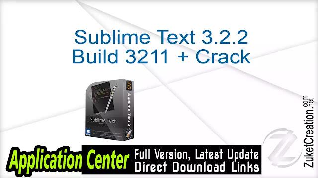 Sublime Text 3.2.2 Build 3211 + Crack