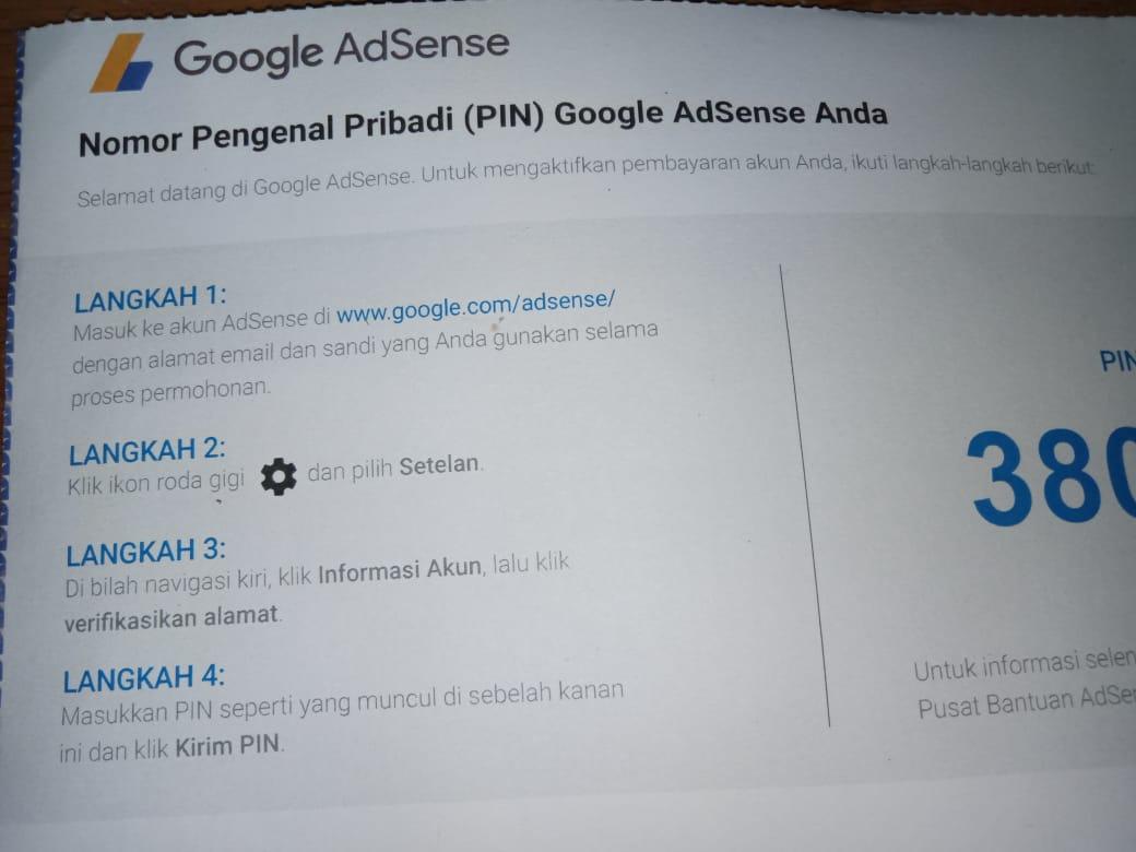 Cara Mendaftar Google Adsense Sampai Payout