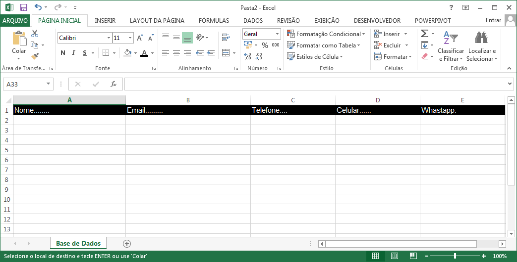 Como Fazer Uma Agenda De Telefone No Excel