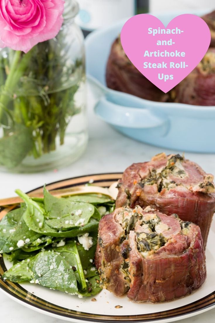 Spinach-and-Artichoke Steak Roll-Ups