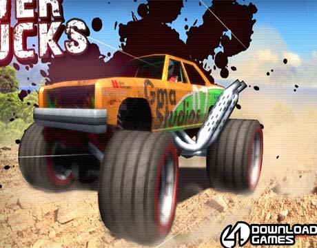 لعبة سباق السيارات المجنونة Crazy Monster Trucks