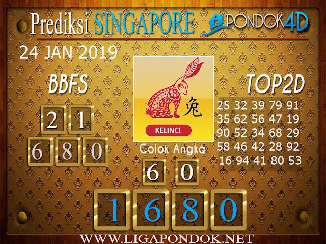 Prediksi Togel SINGAPORE PONDOK4D 24 JANUARI 2019