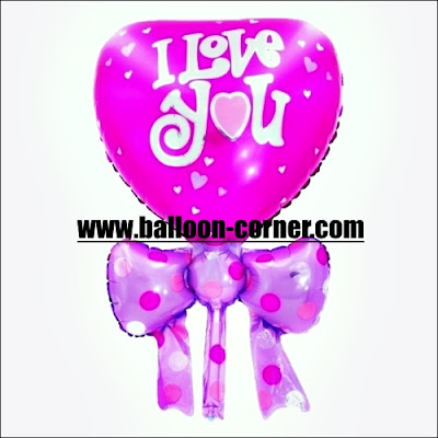 Balon Foil Hati Pita Mini / Foil Love Pita Mini