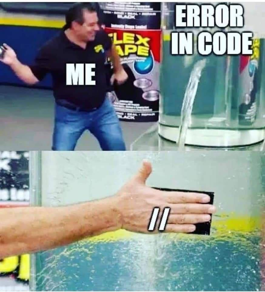 Error in code funny meme