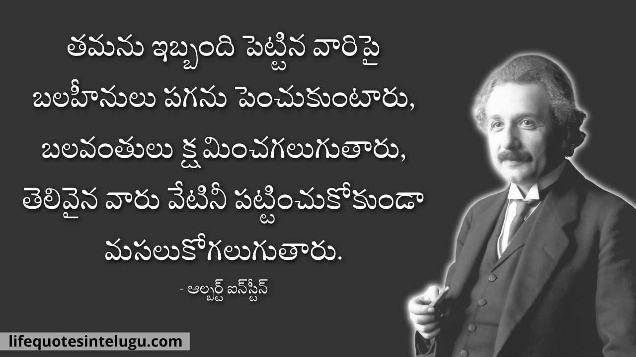 Albert Einstein Quotes In Telugu