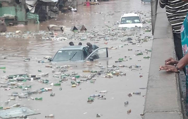 One killed, two escape death as flood ravages Anambra capital