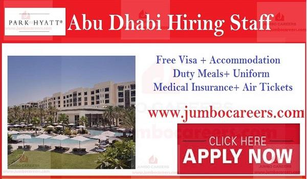 Job Openings at Park Hyatt Abu Dhabi, Hyatt Hotels UAE Job Opportunities May