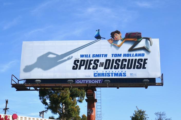 Spies in Disguise movie billboard