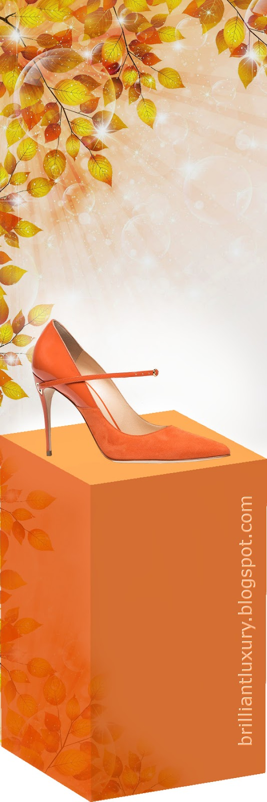 Brilliant Luxury ♦ Jennifer Chamandi Lorenzo leather suede pumps #orange
