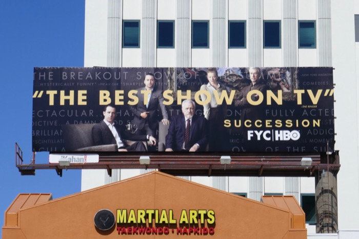 Succession season 1 Emmy consideration billboard