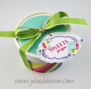 Stampin' Up! Sweetest Thing Sweet Cup + PDF Template ~ www.juliedavison.com