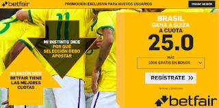 betfair supercuota victoria de Brasil a Suiza 17 junio