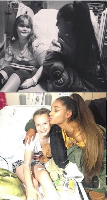 Ariana Grande withe her Affected Fans in Manchester Hospital, UK