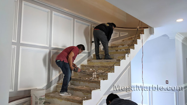 Remove Marble Stairs