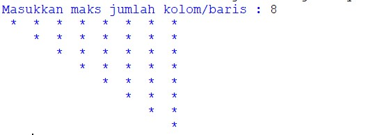 contoh program python menampilkan bintang pola segitiga dengan mudah  lengkap dengan beberapa versi