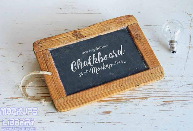 chalkboard frame mockup
