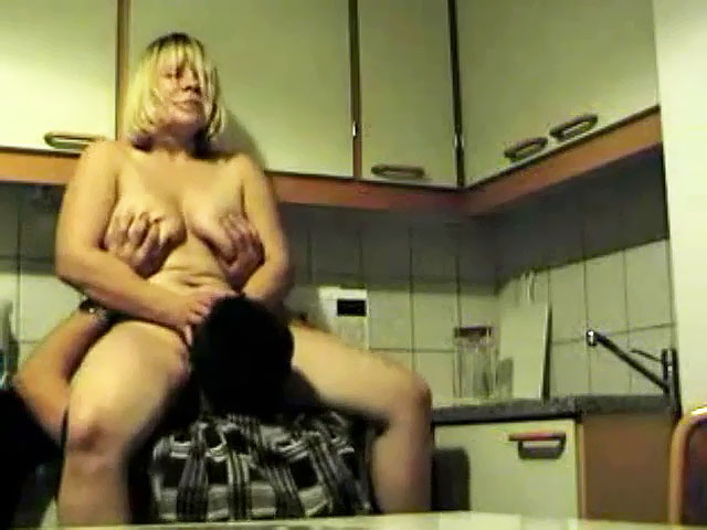 Mom Makes Son Cum Her Pussy