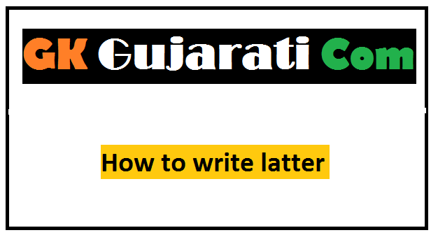 How to write latter