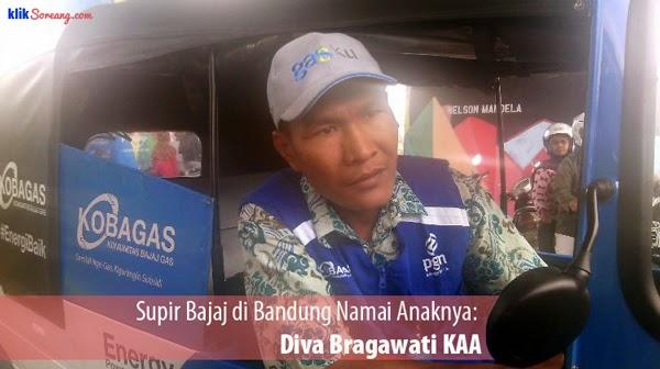 Supir Bajaj di Bandung Namai Anaknya Diva Bragawati KAA