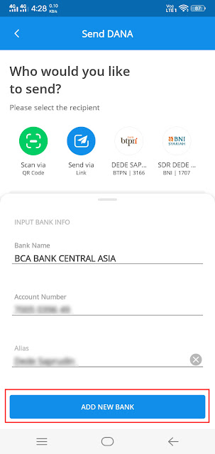 cara transfer saldo e-wallet ke bank