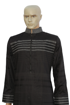 pattern jubbah in black colour