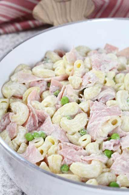 Ham and Peas Macaroni Alfredo