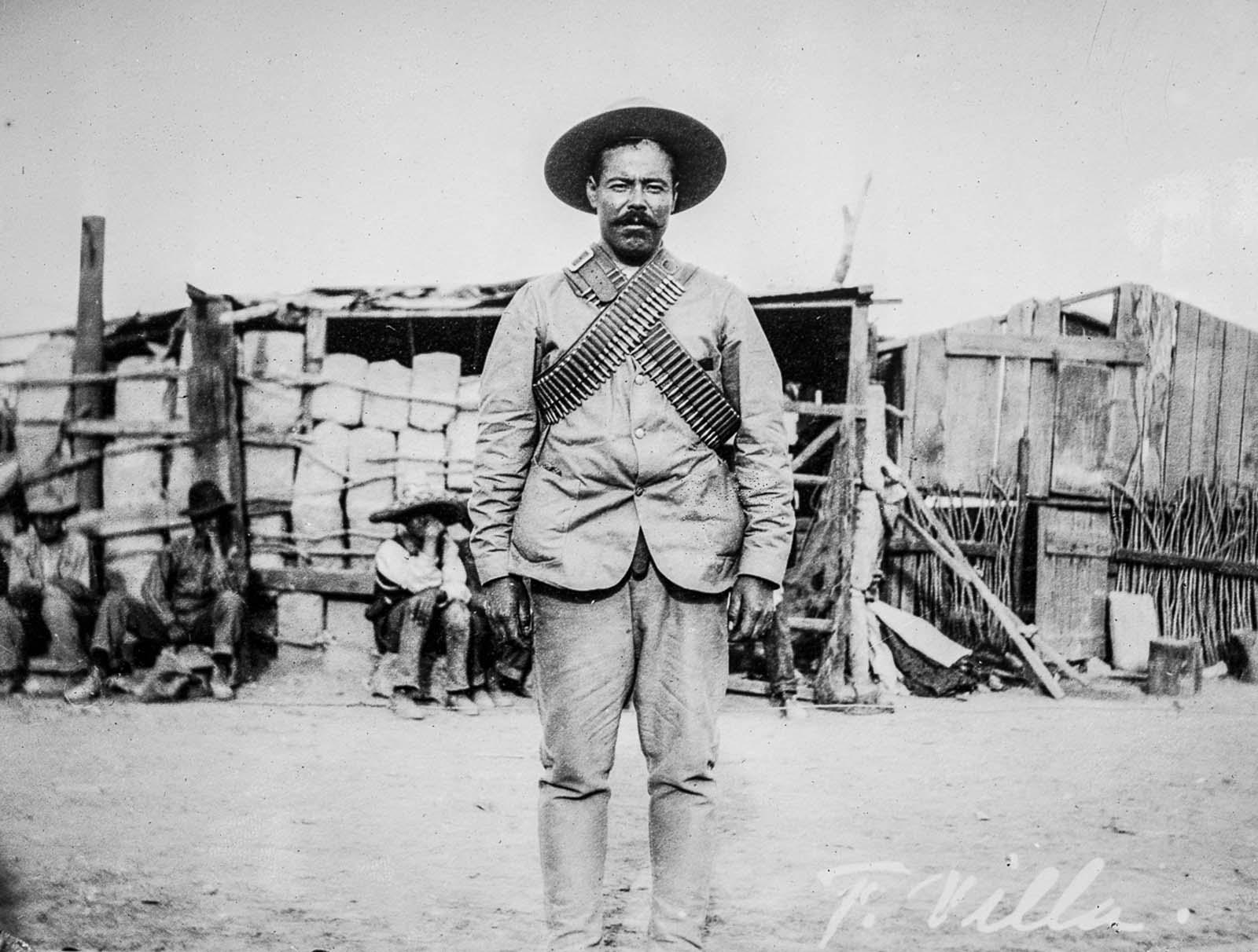 Pancho Villa during the capture of Ciudad Juárez.